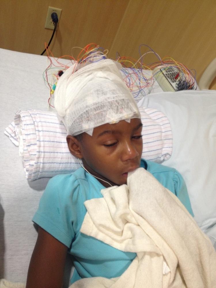 Grace EEG testing