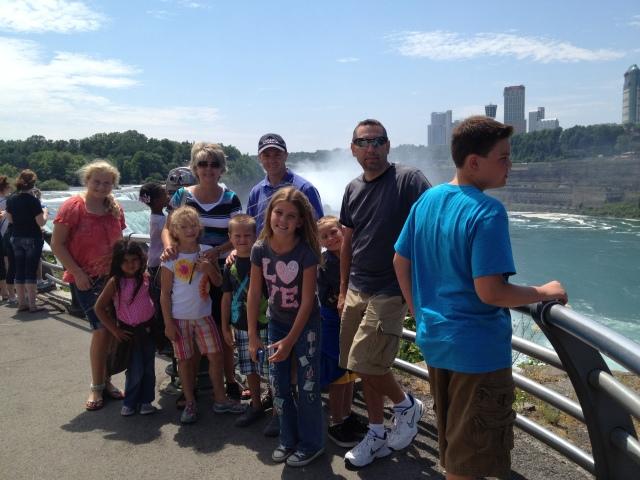 Niagara Falls with Huntsman family