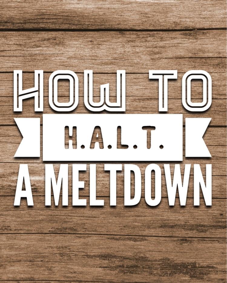 HALT a meltdown special needs