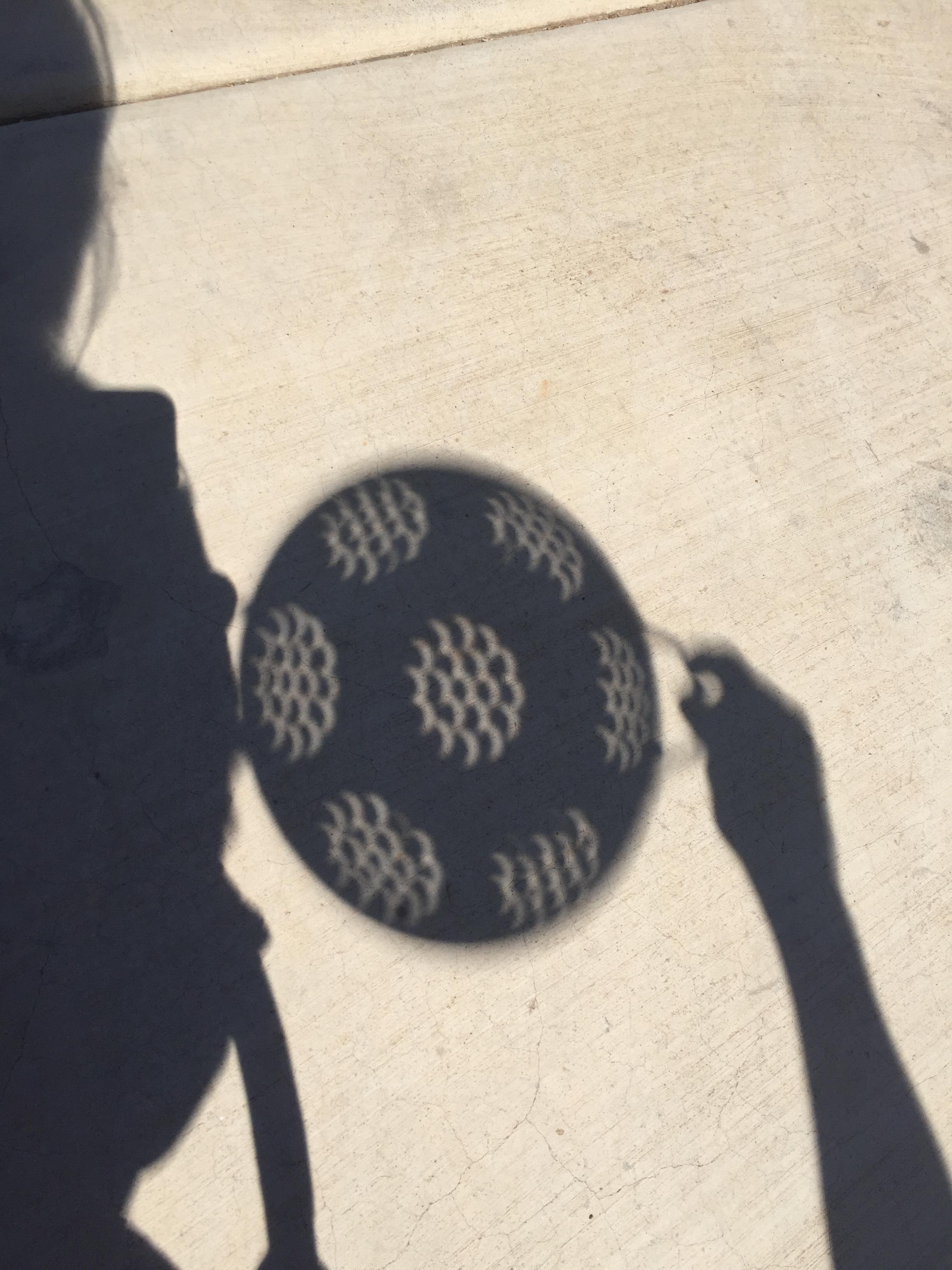 solar eclipse colander shadows